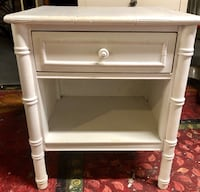white wooden 2-drawer nightstand Duxbury, 02332