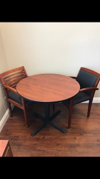 Round brown wooden table (chairs sold separately ) Temecula, 92592
