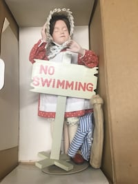 """Collectible porcelain Norman Rockwell's """"No Swimming"""" 66 km"""