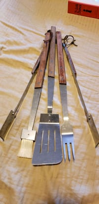 BBQ set stainless and wooden handles Saskatoon, S7L 7H9
