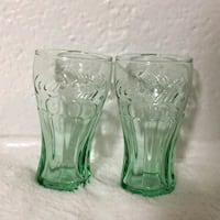 Coca Cola Glass Set Of 2 . color green Rocky Hill, 06067
