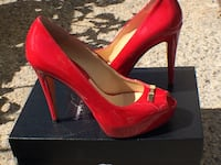 HOT RED BRIDET SHOES by Feri Designer Lines