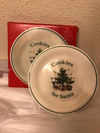 "Nikko Christmas Cookies for Santa Plate 8"" with original box  Grapevine, 76051"