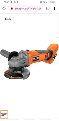 Ridged 4.5 inch  cordless angle grinder