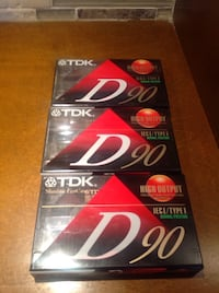 TDK D90 High Output Audio Cassette Tapes - Lot of 3 Bolton, L7E 1X7