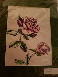 Abstract roses marker print Newburgh, 12550