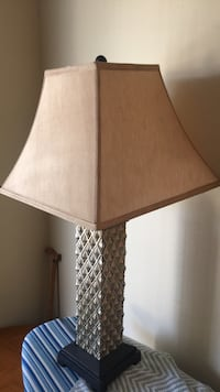 brown and white table lamp Riverside, 92507