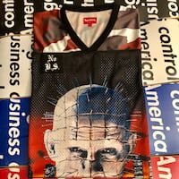 Supreme Hellraiser Football Jersey Large red snow camo new  El Monte, 91732