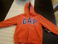 BRAND NEW 5T Orange and Blue Gap pullover hoodie 32 mi