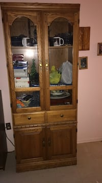 brown wooden cabinet with shelf Toronto, M1B 3G2