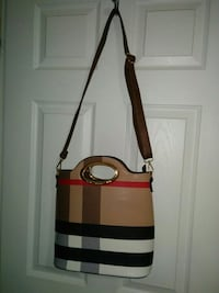 black and brown leather crossbody bag, like new Mississauga, L5M 0A5