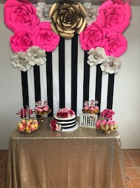 pink and white floral party favors Orlando, 32828