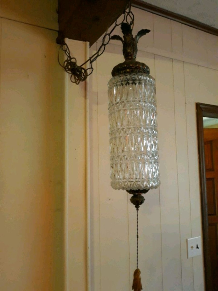 Photo Leaded glass cylinder Lamp