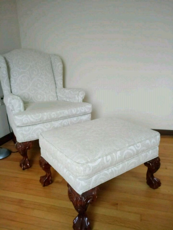 Bassett furniture  Love seat, chair and ottoman