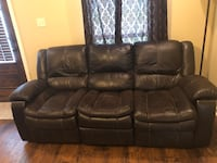 Bonded leather sofa couch electric reclining Houma, 70363