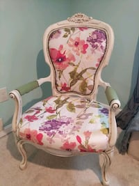 white and pink floral padded armchair Westminster, 21157