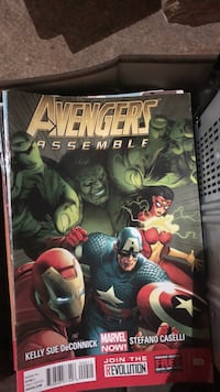 Marvel avengers assemble comic book and marvel a lot in the box great condition also Buffy vampire comics full box full New York, 10308