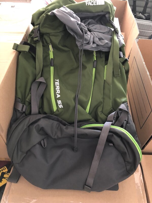 23c7447c20d8 green and black The North Face backpack