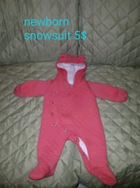 toddler's pink and white footie Edmonton, T5M 3J4
