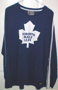 Toronto Maple Leafs Long Sleeve T Shirt Jersey Style Size XL  London