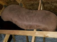 Brown Suede Bed Stool Frederick