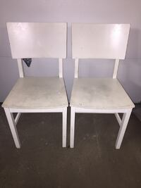 Pair of Wood Ikea Chairs Toronto
