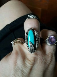 Sterling Silver Turquoise Ring with Sil er Feather Knoxville, 37920