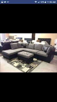 gray and black sectional couch Austin