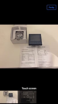 Thermostat touch screen Stavanger, 4027