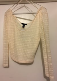 Ivory sheer crop long sleeve top Gilroy, 95020