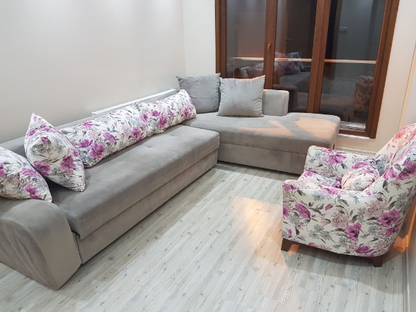 Tertemiz Baza Berjer Cekyat Kose Koltuk Takimi Crystal Clean Corner Sofa With Bed Base And Can Be Made Into A Bed