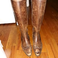 Ladies Brown Leather Boots $40 negotiable  New York, 10026