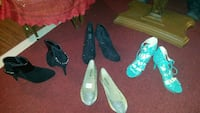 4 pairs of shoes sandals heels and flats Moncton, E1A 3A1