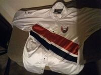 white and red nike jersey shirt Silverton, 97381