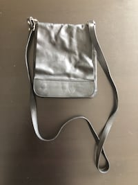Real leather crossbody purse black  BARRIE