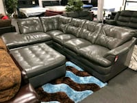 Grey leather sectional- BRAND NEW IN BOX Rosedale, 21237