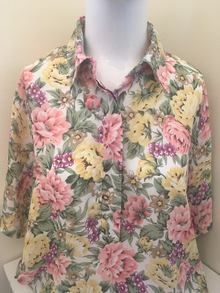 Photo Alfred Dunner Button Down Floral Top