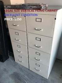 Legal Size Vertical Filing Cabinet, Excellent Condition! Mississauga