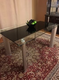 Glass dining table, ONLY (no chairs) Kitchener