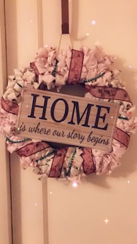 """""""Home is where our story begins"""" wreath Kingsport, 37660"""