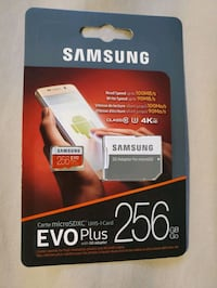 Brand new sealed samsung 256gb micro sd card  Mississauga, L4W 2H7
