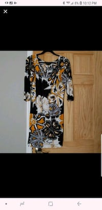 black and yellow floral long-sleeved dress Old Bridge Township, 08857