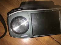 Black alpine 2-din car stereo