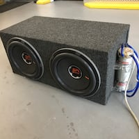 Custom made subwoofer speakers with cover