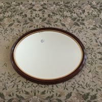 "Oval Mirror with Beveled Glass - Cherry Frame 31""x25"" Aldie, 20105"