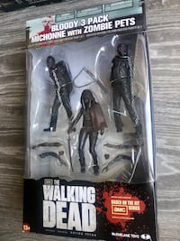 TWD Series 3 Bloody B&W Michonne and Pet Zombie Figure (3 Pack) Whitby, L1R 0G3
