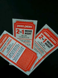Cineplex 2 for 1 - 3 coupons
