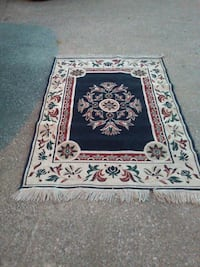 white and red floral area rug Mishawaka, 46544