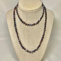 Tahitian Black Peacock Baroque Pearl Necklace
