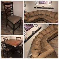 Moving Sale. Dining Table and Microfiber Sectional Arlington, 22202